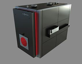 3D Low-temperature boiler Vitoplex 100