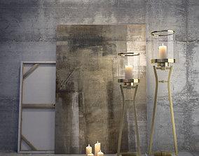 3D model Candlesticks Decorative set