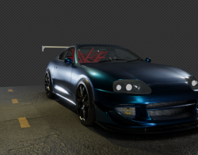Game Ready Toyota Supra 3D asset