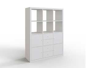 KALLAX Shelving unit with 6 inserts white 3D model