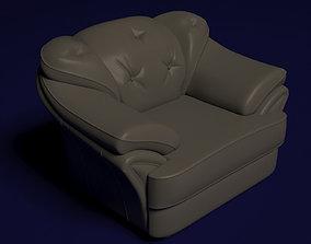 Leather chair indolent 3D model