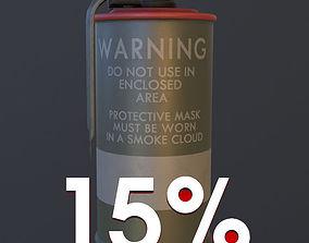 Red M18 Smoke Grenade USA PBR VR AR Games 3D model PBR