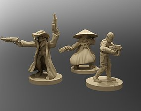 3D print model Cyberpunk Outlaws Miniatures