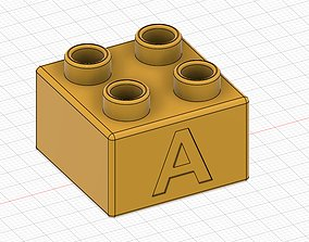 3D print model Lego Duplo compatible 2x2 A