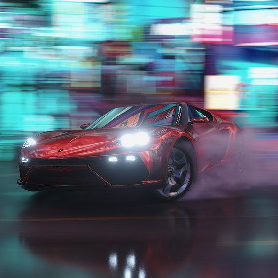 Car Drift in the Street