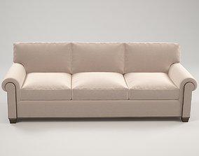 Classic white sofa 3D model