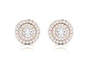 Women earrings 3dm render detail huggies