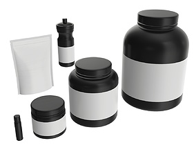Nutrition Container pack for mockup 3D model