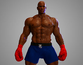 3D model Male African BOX - MMA Fighter