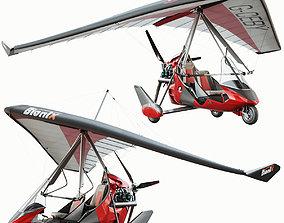 Ultralight trike Tanarg 912 3D model