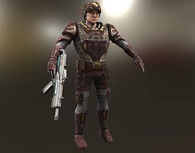 3D asset Golden Soldier