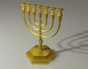 Temple Menorah 3D print model