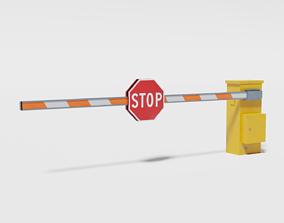 Security entrance barrier 3D asset