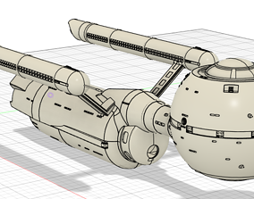 Daedalus Class Starship 3D print model