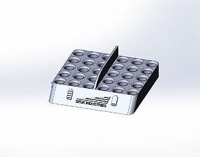 3D print model Intelligent battery holder