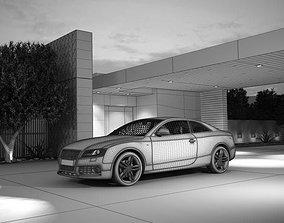 Black A6 Coupe With 20 Rims Sport 3D