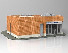 3D Auxiliar Building Studio Max