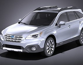 Subaru Outback 2017 VRAY 3D