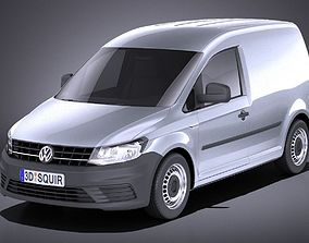 Volkswagen Caddy Cargo VAN 2018 VRAY 3D model