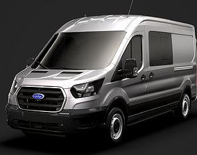 3D Ford Transit Van 350 L3H2 Leader DCIV 2020