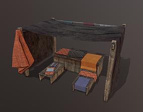 Medieval Cloth Market 3D asset