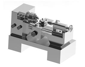 Stylish Lathe Machine 3D printable model
