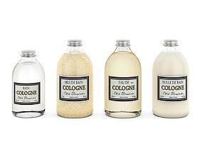 3D model Bathroom bottles set