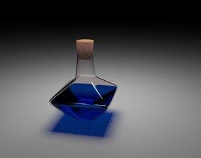 blue flask 3D model realtime
