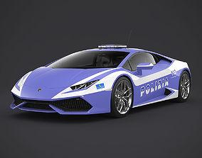 Lamborghini Huracan Italian Police 3D