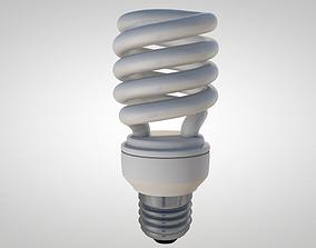 Fluorescent Light Bulb 3D