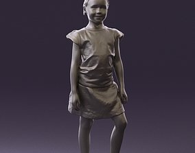 Young girl in white shirt paris 0725 3D Print