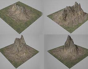 Mountains Kitbash 3D asset