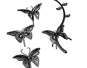 Butterfly Earring Set 3D printable model