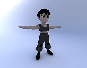 3D model Boy, Cartoon