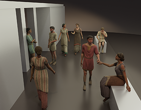 3D Rigged Roman Civilian Men and Women
