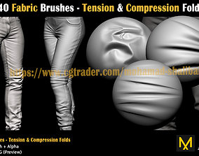 40-fabric-brushes-fold 3D