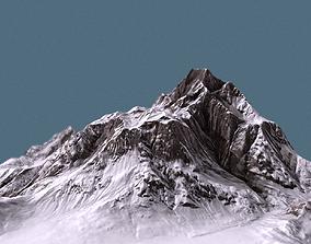 Mountain terrain under the snow 3D asset