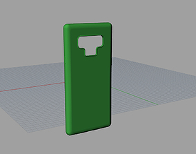 Samsung Galaxy note9 green case 3D model