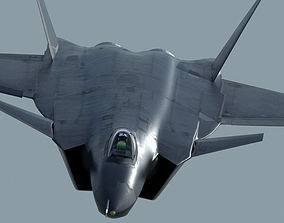 3D Chinese Air Force Chengdu J-20 Stealth Fighter