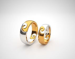 Jewelry wedding ring for women and men 3d model 1