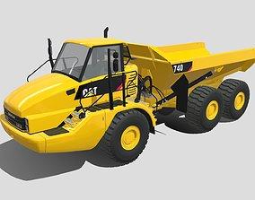 3D model Caterpillar 740 Dump Truck