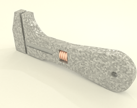 Adjustable key 3D model