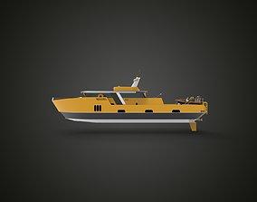 rescue boat yellow 3D model