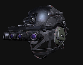 Military Helmet with Night Vision Goggles 3D model