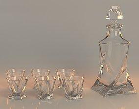 3D asset Crystal vodka set