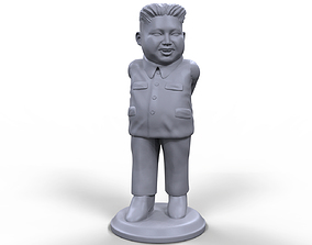 Kim Yong Un stylized high quality 3d printable miniature