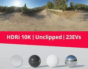 3D model Hdri - Trail Trees And Mountains trail