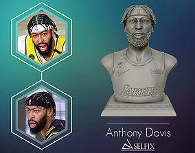3D portrait of Anthony Davis with finals look