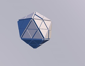 Sci Fi Object No10 - Pyramid Sphere Torus 2019 Low Poly 3D