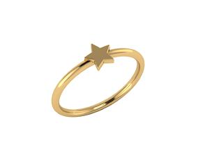 Minimalistic simple star ring 3D printable model